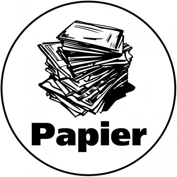 Papier Aufkleber transparent