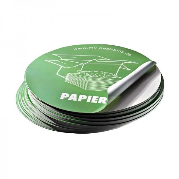 Aufkleber rund Altpapier (grün)
