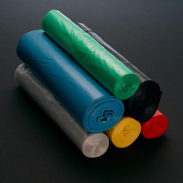 Abfallsäcke in verschiedenen Farben